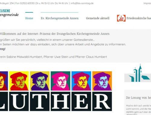 Homepage im neuen Gewand