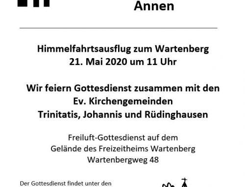 Himmelfahrtsgottesdienst auf dem Wartenberg